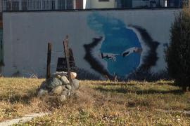 la targa e il murales per i Giusti