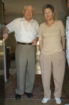 Moshe Bejski e la moglie Erika