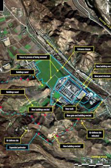 Foto aerea  di un campo nordcoreano