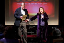 Gabriele Nissim e Andrée Ruth Shammah il 6 marzo 2012 al Teatro Parenti