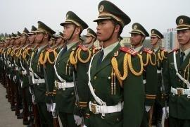L'esercito cinese schierato
