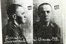 Gustaw Herling in una foto segnaletica scattata dall'NKVD nel 1940