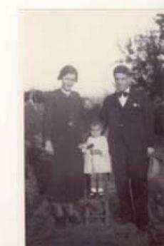 Andrea Schivo con la moglie e la figlia