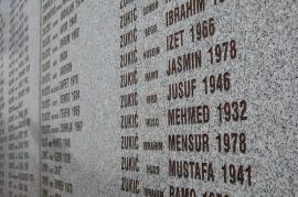 Le vittime di Srebrenica