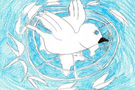Uno dei disegni dei bambini