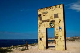 """Porta di Lampedusa, porta d'Europa"", opera di Mimmo Paladino"