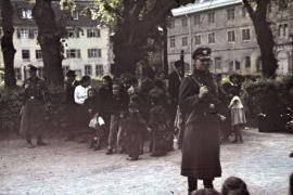 Gruppo di zingari rastrellato per essere deportato, Asperg, 22 aprile 1940
