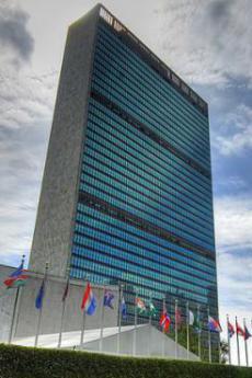 Il Palazzo di Vetro, sede dell'ONU, New York