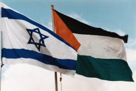 Le bandiere di Israele e Palestina