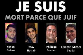 """""""Sono morto perché ebreo"""", il cartello di protesta di alcuni ebrei francesi"""