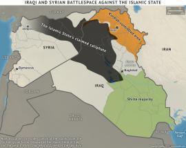 Aree di Iraq e Siria controllate dallo Stato Islamico