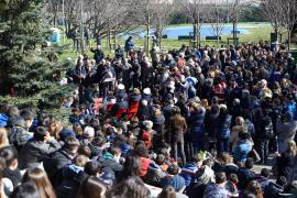 Il sindaco Giuliano Pisapia apre la cerimonia al Monte Stella