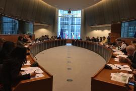 La sala del Parlamento Europeo