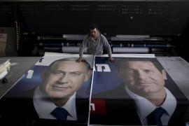 I manifesti elettorali di Netanyahu ed Herzog
