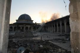 La Grande Moschea di Aleppo distrutta nel 2013