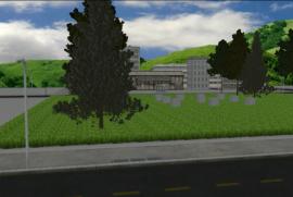 Immagine del rendering del futuro Giardino dei Giusti rwandese