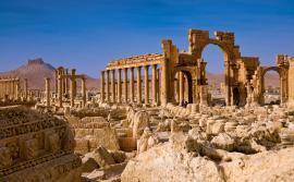 Una veduta dell'antica Palmyra