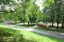 Le panche all'aperto-auditorium del Giardino dei Giusti, rendering progetto arch.Valabrega
