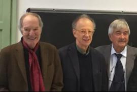Da sinistra: Salvatore Veca, Gherardo Colombo, Bruno Ferrari