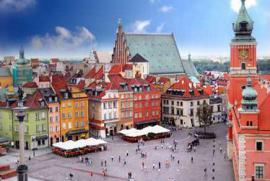 La piazza del castello di Varsavia
