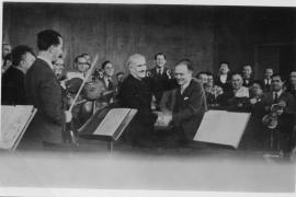 La prova del primo concerto della Palestine Orchestra