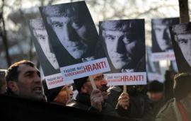 Manifestazione a Istanbul in ricordo di Hrant Dink