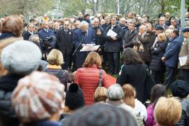 Renzo Gattegna al Giardino dei Giusti di Milano