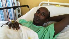 Salah Farah ferito nell'attacco all'autobus, durante il quale aveva difeso i passeggeri cristiani