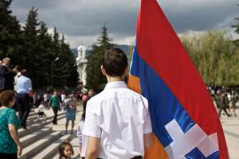 La bandiera del Nagorno Karabakh