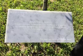 La targa dedicata a Lassana Bathily a Vercelli