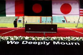 La cerimonia in ricordo delle vittime di Dacca