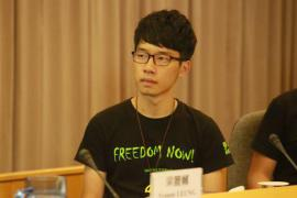 Il leader del movimento democratico di Hong Kong, Nathan Law