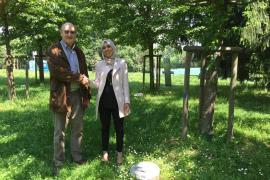 Gabriele Nissim e Imen Ben Mohammed, deputata al Parlamento tunisino