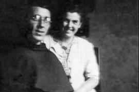 Majda Mazovec con Padre Placido Cortese