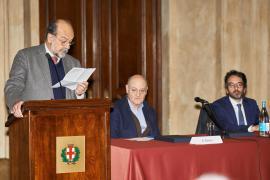 Giorgio Mortara durante la cerimonia per la Giornata europea dei Giusti