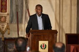 Lassana Bathily in Sala Alessi