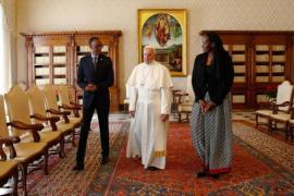 Paul Kagame ricevuto da Papa Francesco