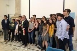 foto della classe III F del liceo Cavour di Roma