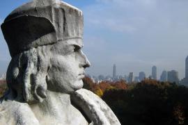 Il monumento newyorkese dedicato a Cristoforo Colombo
