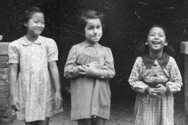 Marion Gerber insieme alle sue amiche cinesi