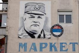 Ratko Mladic, in un murale