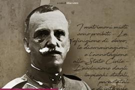 Vittorio Emanuele III nell'immagine della locandina dell'iniziativa