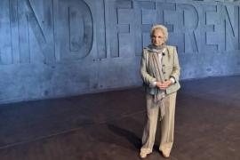 Liliana Segre al Memoriale della Shoah di Milano