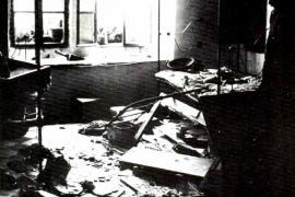 Interno di un'abitazione distrutta nei massacri di Hebron del 1929
