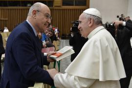 Gabriele Nissim con Papa Francesco in occasione della Giornata dei Giusti