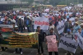 Manifestazioni del popolo Xinca contro la miniera di San Rafael