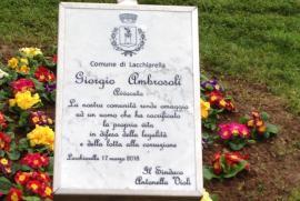 una targa per Giorgio Ambrosoli