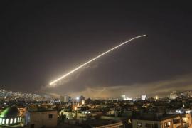 Un'immagine dell'attacco di USA, Francia e Gran Bretagna