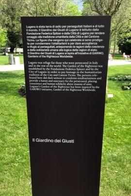 Il Giardino dei Giusti di Lugano