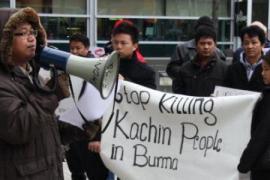 Proteste contro le uccisioni di Kachin